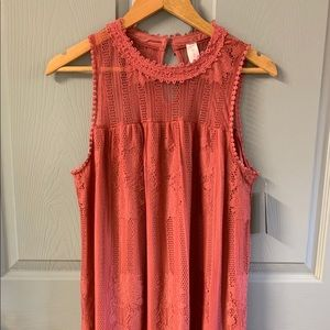 No Boundaries Crocheted Shift Dress